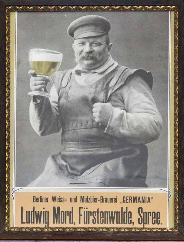 Altes Werbeplakat, Ludwig Mord, Fürstenwalde/Spree