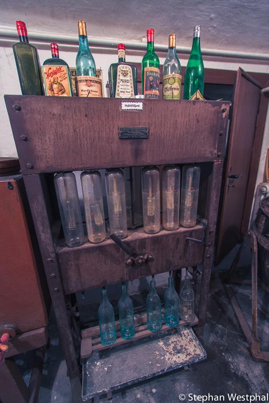 Ablitergerät für Flaschen